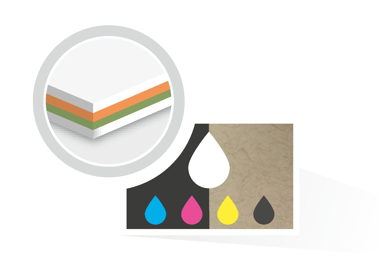 Weiß Drucken Auf Farbigem Und Schwarzem Papier Bei Flyerwire