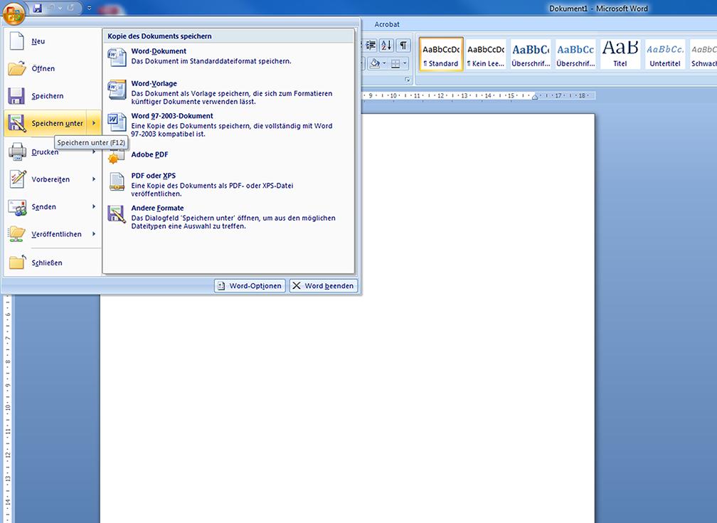 Microsoft Word Pdf Export Anleitung