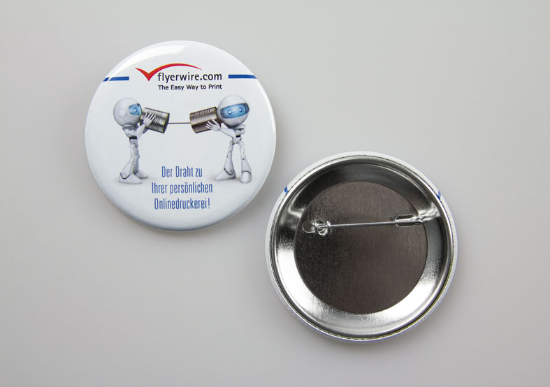 Nadel-Ansteckerbuttons bereits ab 0,15 €/Stk.