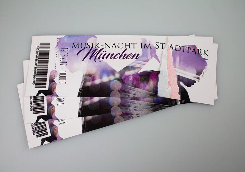 Tickets mit Perforation - Nummerierung drucken - flyerwire.com